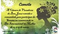 Convite para Semana em Comemoração ao Dia Internacional da Mulher