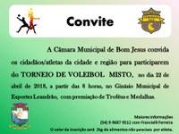 Convite para Torneio de Voleibol Misto