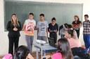 Vereadora palestra para alunos do Jovem Aprendiz
